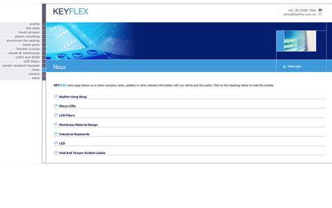 Screenshot of Press Page keyflex.com.au - News   KEYFLEX - captured Sept. 30, 2014