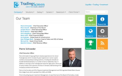 Screenshot of Team Page tradingscreen.com - Our Team - captured Aug. 16, 2016