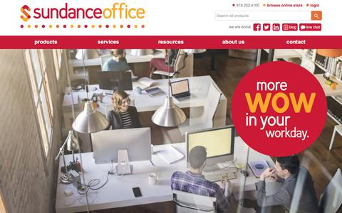 Screenshot of Home Page sundanceoffice.com - Sundance Office - Free Delivery Office Supplies, Janitorial, Toner, Furniture - captured Dec. 3, 2016