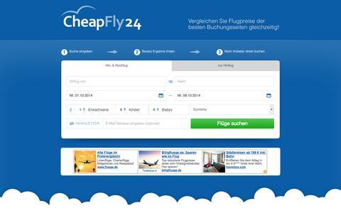 Screenshot of Home Page cheapfly24.de - cheapfly24.de - captured Sept. 24, 2014
