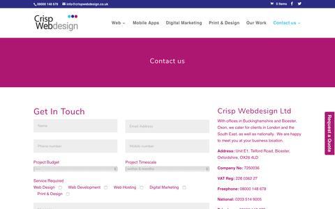 Screenshot of Contact Page crispwebdesign.co.uk - Contact us   Crisp Webdesign Ltd - captured May 22, 2017