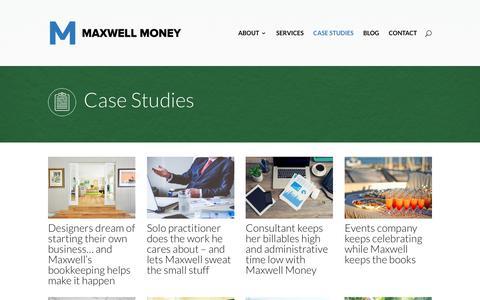 Screenshot of Case Studies Page maxwellmoney.com - Case Studies - Maxwell Money - captured Oct. 4, 2017