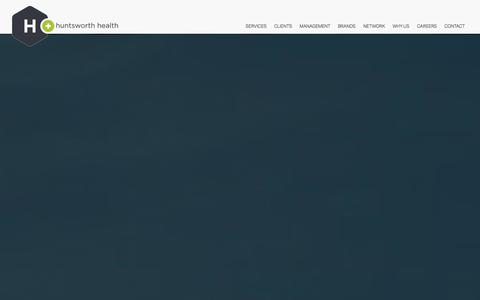Screenshot of Home Page hhealth.com - Huntsworth Health - captured Oct. 3, 2014