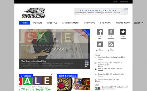 Screenshot of Blog hotbuckles.com - HOT BUCKLES INC. - Keeping Your Pants up Since 2005! - captured Sept. 19, 2014