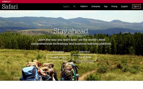 Safari, the world's most comprehensive tech & business learning platform