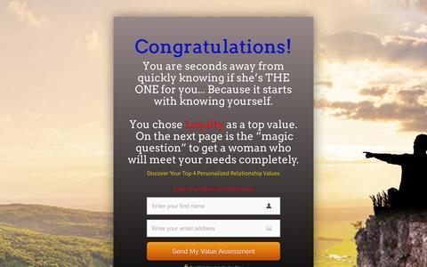 Screenshot of Landing Page personallifemedia.com - RM-Survey - All - Male - Loyalty | Personal Life Media - captured Aug. 18, 2016