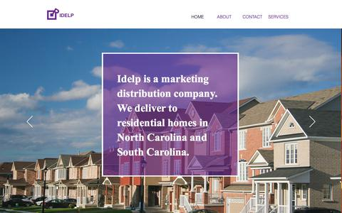 Screenshot of Home Page idelp.com - Charlotte Flyer Delivery Service l idelp - captured Sept. 20, 2018