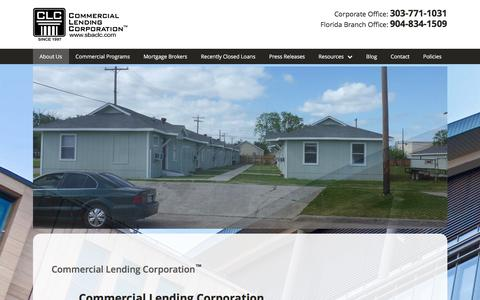 Screenshot of Press Page sbaclc.com - Commercial Lending Corporation - sbaclc.com - captured Nov. 9, 2016