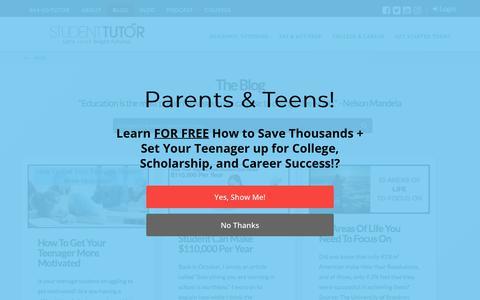 Screenshot of Blog student-tutor.com - Academic, SAT/ACT Prep, Scholarship, College, & Career Success Blog | Student-Tutor - captured March 27, 2018