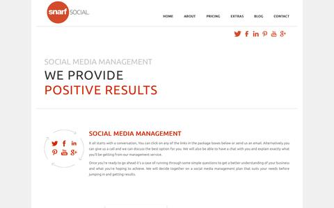 Screenshot of Pricing Page snarfsocial.com - Social Media Management - Snarf Social - captured Sept. 30, 2014