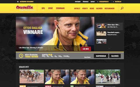 Screenshot of Home Page axevalla.se - Axevalla Travbana - Stochampionatsbanan - captured Oct. 5, 2014