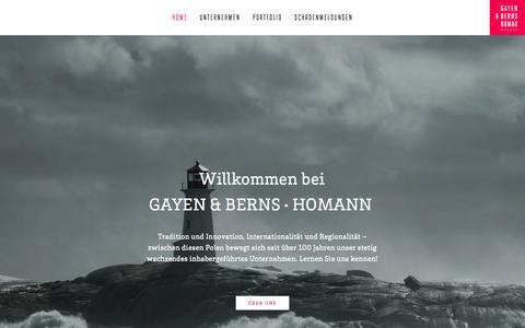 Screenshot of Home Page gbh.de - Home - captured June 19, 2015