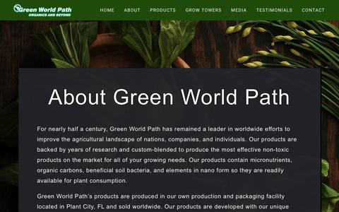 Screenshot of About Page greenworldpath.com - About – Green World Path - captured Sept. 30, 2018