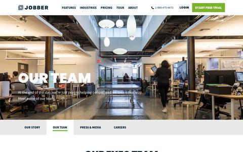 Screenshot of Team Page getjobber.com - Team - Jobber - captured June 11, 2019