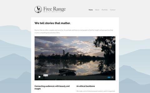 Screenshot of Home Page free-range.tv - Free Range Multimedia - captured Oct. 6, 2014