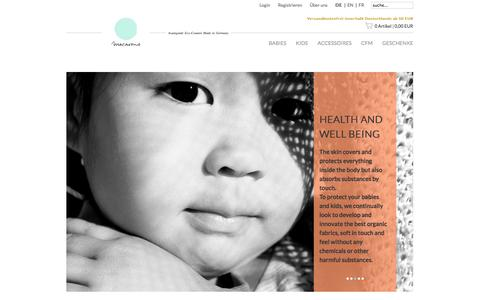 Screenshot of Home Page macarons-shop.com - Start - captured Sept. 22, 2014