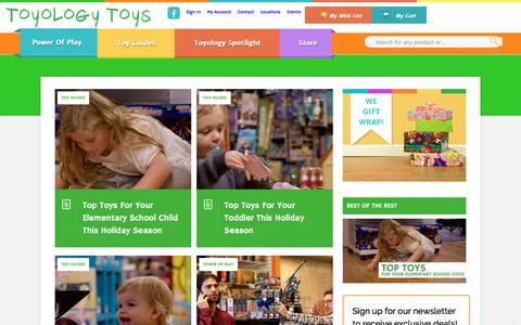 Screenshot of Blog toyologytoys.com - Home - Toyology Toys Blog - captured Nov. 8, 2017