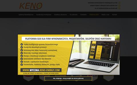 Screenshot of Home Page keno-energy.com - KENO Nowoczesne systemy solarne - captured March 3, 2018