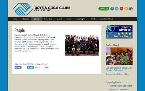 Screenshot of Team Page clevekids.org - People – Boys & Girls Clubs of Cleveland - captured Nov. 23, 2016