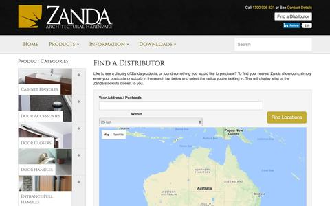 Find A Distribution | National Reach | Zanda Architectural Hardware