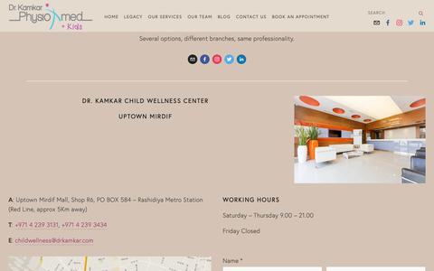 Screenshot of Contact Page drkamkar.com - Contact Us — Dr. Kamkar - captured Oct. 9, 2018