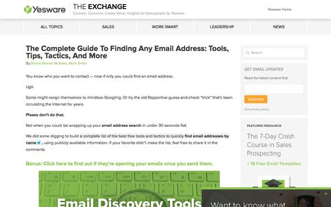 How To Find Email Addresses: The Complete Guide - Yesware Blog