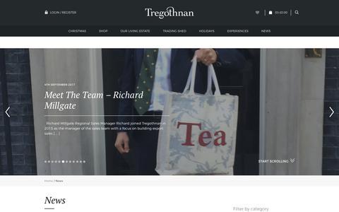 Screenshot of Press Page tregothnan.co.uk - Tregothnan | News - captured Nov. 7, 2017