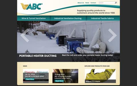 Screenshot of Home Page abc-industries.net - ABC Industries - captured Oct. 10, 2014