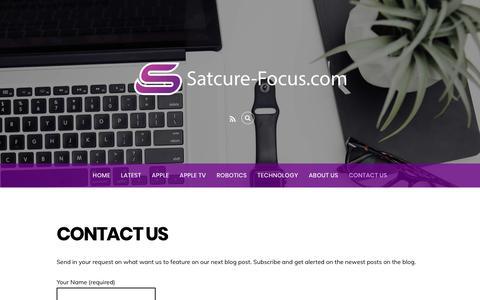 Screenshot of Contact Page satcure-focus.com - Contact Us - Satcure-Focus.com - captured July 3, 2018