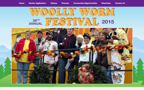 Screenshot of Contact Page woollyworm.com - Woolly Worms | Woolly Worm Festival - captured March 12, 2016