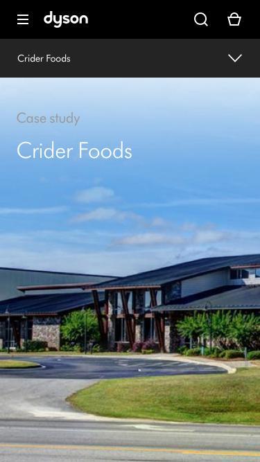Screenshot of Case Studies Page  dyson.com - Crider Foods | Case Study | Dyson