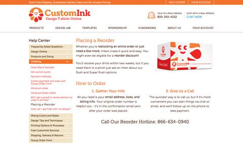 Quick and Easy Reorders at CustomInk.
