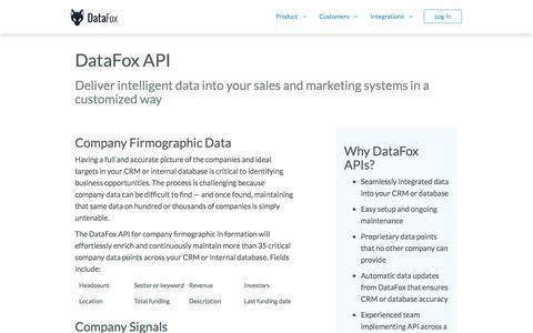 DataFox API Endpoints for Company, Signal, and Conference Intelligence