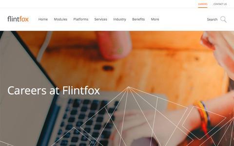 Screenshot of Jobs Page flintfox.com - Careers at Flintfox - Flintfox - captured Aug. 4, 2016