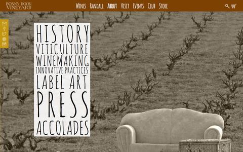 Screenshot of About Page bonnydoonvineyard.com - About Bonny Doon Vineyard - Bonny Doon Vineyard - captured Oct. 29, 2014