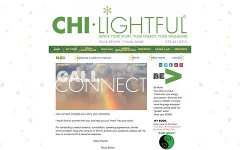 Screenshot of Contact Page chilightful.com - chi-lightful - Paula Brown - captured Dec. 8, 2015