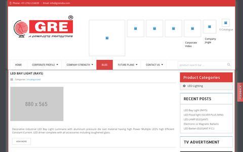 Screenshot of Blog greindia.com - greindia | Blog - captured Sept. 26, 2018