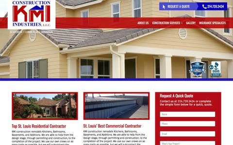 Screenshot of Home Page kmiconstructionllc.com - Home | KMI Contruction - captured Sept. 24, 2018