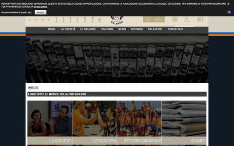 Screenshot of Press Page pdosalerno.it - News - PDO SALERNO HANDBALL TEAM ASD - SITO UFFICIALE - Pallamano Femminile Serie A1 - captured May 11, 2017
