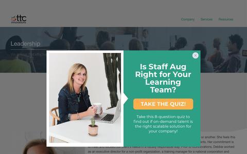 Screenshot of Team Page ttcinnovations.com - Leadership - ttcInnovations : ttcInnovations - captured Sept. 21, 2018