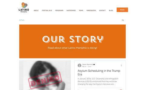 Screenshot of Blog latinomemphis.org - latinomemphis | BLOG - captured July 16, 2018