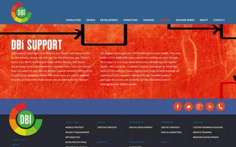 Screenshot of Support Page dbihq.com - DBI Support | Digital Business Intelligence - captured Sept. 23, 2014