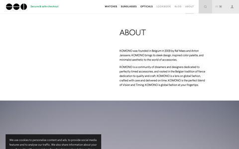 Screenshot of About Page komono.com - About | Komono - captured Oct. 21, 2018