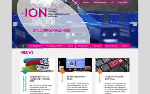 Screenshot of Home Page vereniging-ion.nl - Home | Vereniging ION - captured June 13, 2017