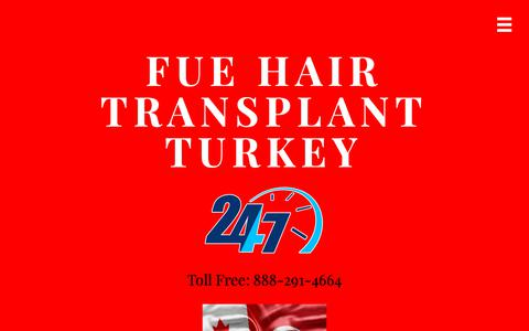 Screenshot of Contact Page hairtransplantturkey.ca - Contact Us - FUE Hair Transplant Turkey - captured Oct. 23, 2018