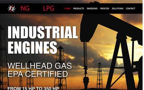 Screenshot of Home Page engines-lpg.com - Natural Gas Engine & LPG Engine Distributor - captured June 18, 2015