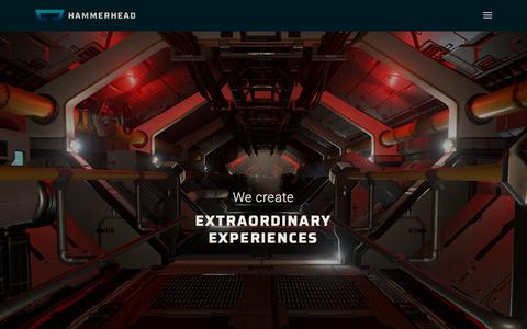 Screenshot of About Page hammerheadvr.com - About - Hammerhead VR - captured Nov. 21, 2017