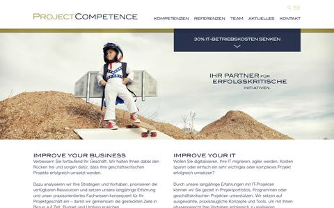 Screenshot of Home Page project-competence.com - Project Competence - captured Sept. 30, 2018