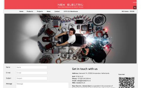 Screenshot of Contact Page newelectric.nl - Contact » New Electric NL - captured Oct. 26, 2014
