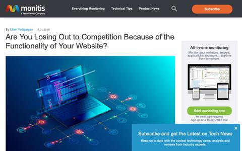 Screenshot of Blog monitis.com - Web Performance And Monitoring - Monitis Blog - captured Feb. 14, 2019